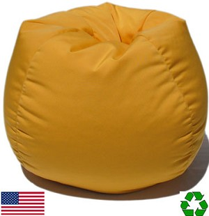 Yellow Outdoor Bean Bag Chair