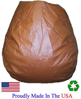 Brown Vinyl Bean Bag