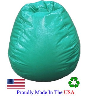 Green Vinyl Bean Bag