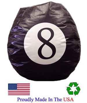 Eight Ball Vinyl Bean Bag