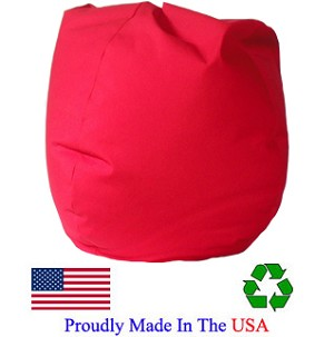 Red Twill Bean Bag