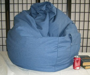 Denim Blue Jean Bean Bag Chair In Stock Ready to Ship