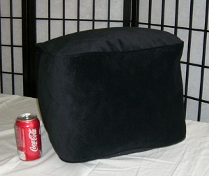 Bean Bag Ottoman Small Faux Ultra Suede Black