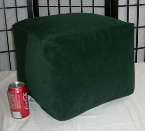 Bean Bag Ottoman Small Faux Ultra Suede Green