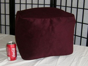 Bean Bag Ottoman Small Faux Ultra Suede Wine