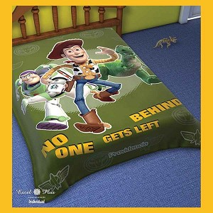 Buzz And Woody No One Gets Left Behind Plush Acrylic Blanket