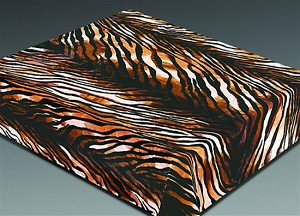 Tiger Skin Plush Mink Blanket