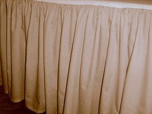 Beige Tan Dustruffle Bedskirt Twin Size