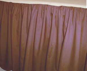 Copper Brown Dustruffle Bedskirt Queen Size