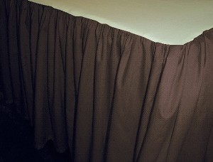 Dark Brown Dustruffle Bedskirt Twin Size