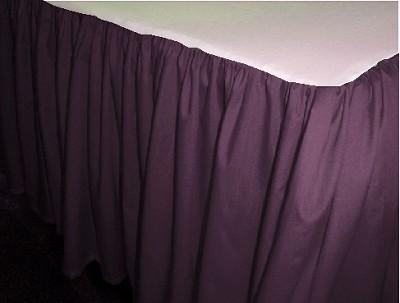 Eggplant Purple Dustruffle Bedskirt Queen Size