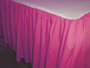 Fuchsia Dustruffle Bedskirt California King Size