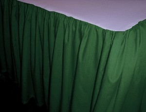 Hunter Green Dustruffle Bedskirt Twin XL Size