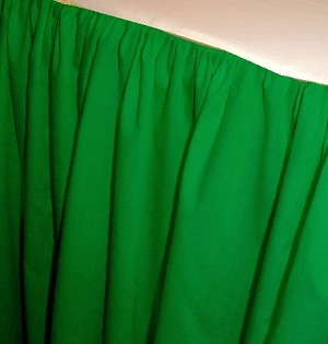 Kelly Green Dustruffle Bedskirt Full/Double Size