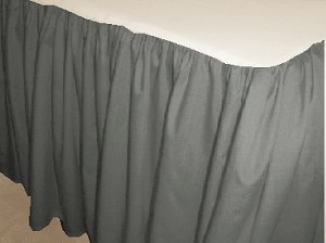 Medium Grey Dustruffle Bedskirt California King Size
