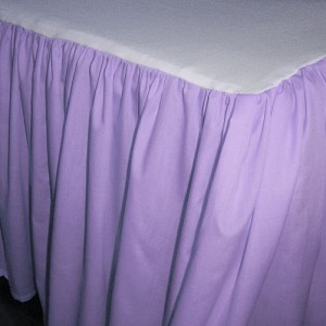 Medium Purple Dustruffle Bedskirt 3/4 Three Quarter Size