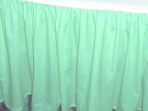 Mint Green Dustruffle Bedskirt California King Size