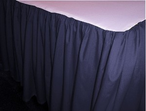 Navy Dustruffle Bedskirt King Size