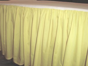 Pale Yellow Dustruffle Bedskirt 3/4 Three Quarter Size