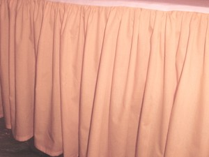 Peach Dustruffle Bedskirt California King Size