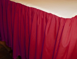 Red Dustruffle Bedskirt Eastern King Size