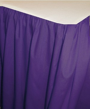 Rich Purple Dustruffle Bedskirt 3/4 Three Quarter Size