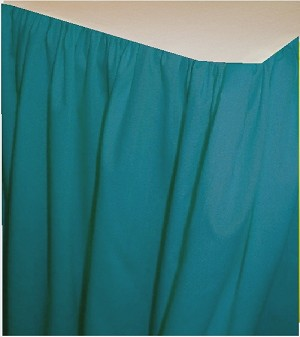 Turquoise Dustruffle Bedskirt 3/4 Three Quarter Size