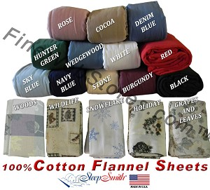Eastern King Split Head Cotton Flannel Adjustable Sheets