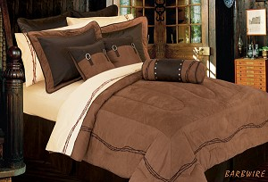 Barbwire Luxurious Western Comforter Bedding Set