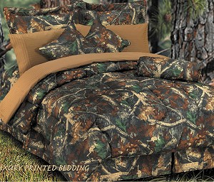 Camouflage Luxurious Western Oak Comforter Bedding Set