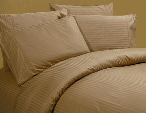 Luxurious Sateen 100% Cotton Coffee Bedding Sheet Set