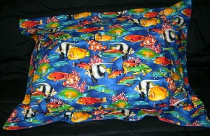 Fish Bedding Full Size Pillow Sham with Flange