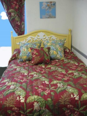 Burgundy Tropical Bedding and Beach Bedding