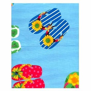 Flip Flop Blue Tropical Bedding and Beach Bedding
