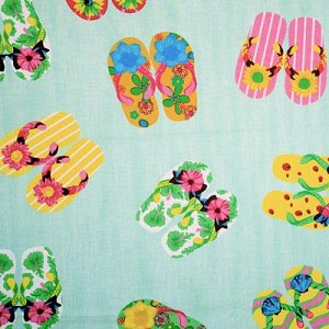 Flip Flop Green Tropical Bedding and Beach Bedding