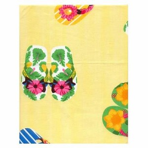 Flip Flop Yellow Tropical Bedding and Beach Bedding