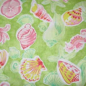 Pink and Green Sealife Tropical Bedding and Beach Bedding