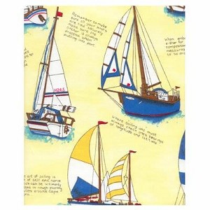 Yellow Sailboat Tropical Bedding and Beach Bedding