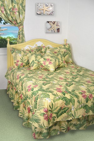 Yellow Tropical Bedding and Beach Bedding