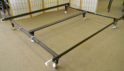 Metal Frame Brackets On Expanded Queen Bed Heavy Duty With Bolt Head Board
