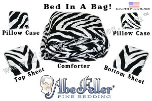 Zebra Print Bed In A Bag Queen Size