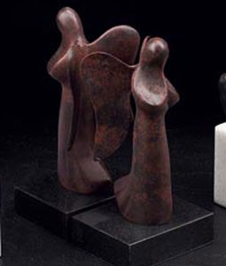 Bronzed Angel Bookends - Set of Two