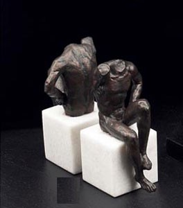 Bronzed Man Bookends - Set of Two