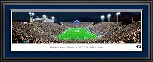 Brigham Young University LaVell Edwards Stadium Deluxe Framed Picture 2