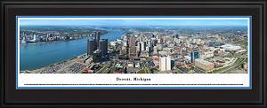 Detroit, Michigan Deluxe Framed Skyline Picture 4