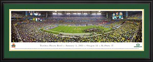 2013 Fiesta Bowl Panoramic University Of Oregon Ducks Deluxe Framed Picture