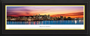 Montreal, Quebec Deluxe Framed Skyline Picture