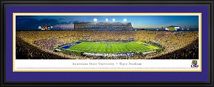 Louisiana State University Tiger Stadium Deluxe Framed Picture 3