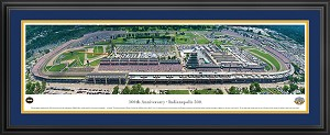 100th Anniversary Indianapolis Motor Speedway Deluxe Framed Picture