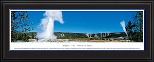 Yellowstone Deluxe Framed Skyline Picture